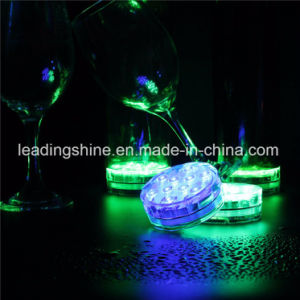 Remote Control 10 LED Color-Changing Bar Pub Hookah Night Light Beer Bottle Base Submersible Light pictures & photos