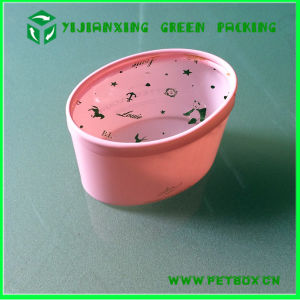 Plastic Pink Oval Packaging Tube for Candy