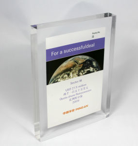 Customize New Clear Acrylic Employee Recognition Award Trophy pictures & photos