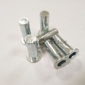 Carbon Steel Flat Head Inside&Outside Hexagon Rivet Nut pictures & photos