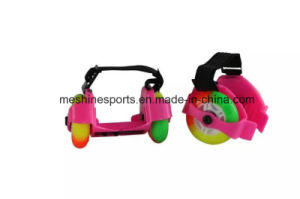 Button Adjustable Flashing Roller Skates with Colored PU Wheels pictures & photos