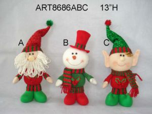 """13""""Hx8""""L Santa and Snowman Ornaments with Heart, 3 Asst-Christmas Decoration pictures & photos"""