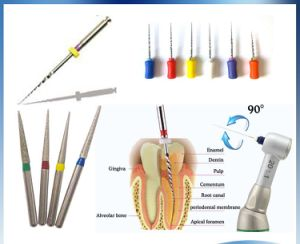 1.6mm Dental Diamond Bur Tooth Drill for High Speed Handpiece pictures & photos