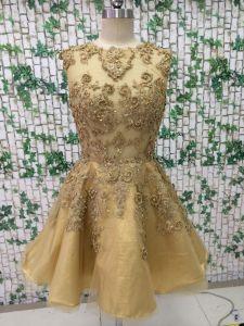 Short Gold Color Evening Dress pictures & photos