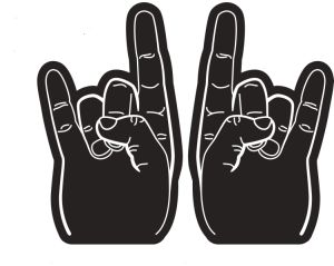 Two Fingers Sponge Foam Hands with Customer′s Logo pictures & photos