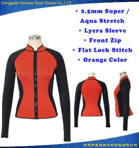 Women Neoprene UV Protect Lycra Sleeve Surf Wetsuit pictures & photos