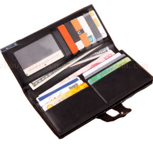 OEM Hasp Fashion Classical PU Purse Wallet for Promotional Gift pictures & photos