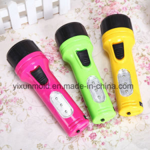 OEM LED Electric Plastic Cover Torch Flashlight for Outdoor Camping pictures & photos