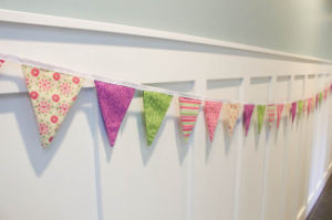 Beautiful Handmade Bunting Fabric Bunting Vintage Home Decor Pink Flags pictures & photos