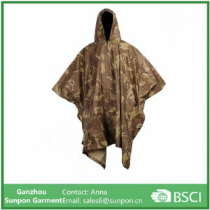 Adult Raincoat Outdoor Rain Poncho with Hoods and Sleeves pictures & photos