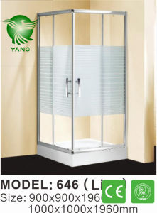 Luxury 304 Stainless Steel Support Bar French Shower Enclosure pictures & photos