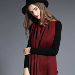 Pure Color Cashmere Shawl for Women pictures & photos