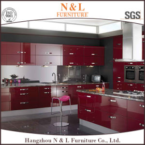 Red High Gloss Baked Paint Lacquer Kitchen Cabinet Furniture pictures & photos