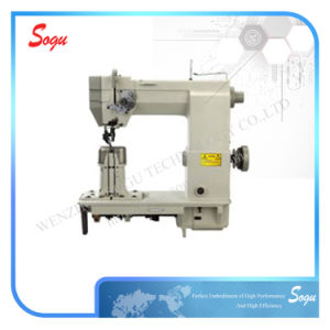 Double Needle Industrial Lockstitch Sewing Machine pictures & photos