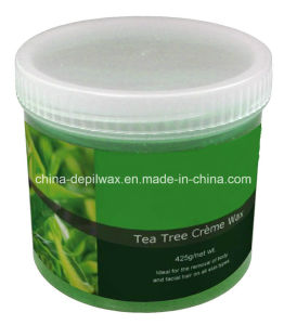 425g Jar Soft Depilatory Wax Tea Tree Creme Wax pictures & photos