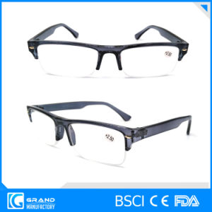 Half Frame Reading Glasses Plastic Fashion Readers Made in China pictures & photos