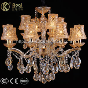 Golden Clip Champagne Crystal Chandelier Light pictures & photos