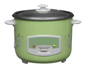 Green Straight Full Body Rice Cooker with Flower Printing pictures & photos