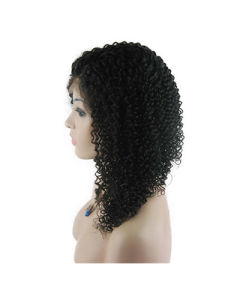 "18"" #1b Jerry Curl Lace Front Wig pictures & photos"