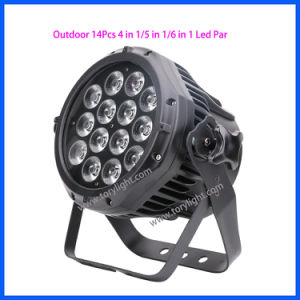 Stage Equipment DJ Quad LED 14PCS Flat PAR DJ Light pictures & photos