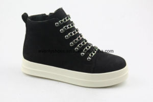 New Design Fashion Lady Boots with Metal Decoration pictures & photos