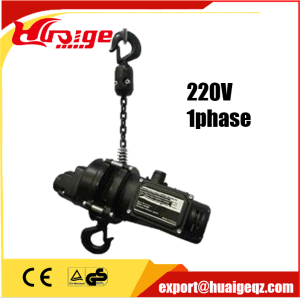 High-Quality Carbonized Black Chain Stage Hoist pictures & photos