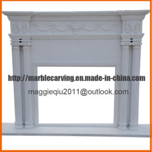 Simple Columns Marble Fireplace Surround Mf1727 pictures & photos
