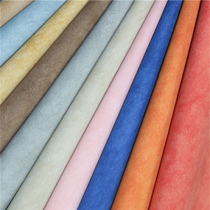Embossed Scrub Effect PU Material Leather for Handbags pictures & photos