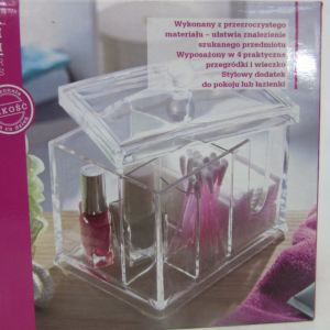 PS Jewellery and Make-up Organiser Box with 4 Practical Compartments and Lid pictures & photos
