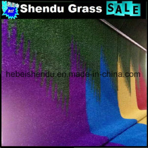 Colorful Artificial Grass 30mm Red Yellow Blue Purple Color pictures & photos