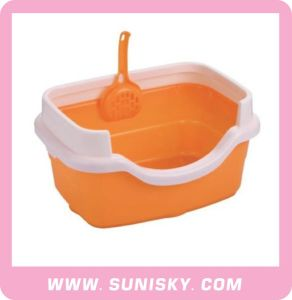 Cat Litter Tray Plastic Cat Toilet with Scoop pictures & photos