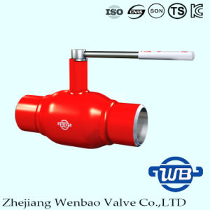 Zhejiang Fully Welded A106 Ball Valve with Handle for Gas pictures & photos