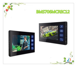 "Wired 7"" Color Touch Button Design Video Intercom Doorphone with Night Vision pictures & photos"
