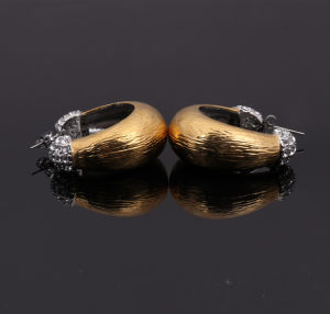 Gold Fashion Jewelry Stainless Steel Hoop Earrings for Women pictures & photos