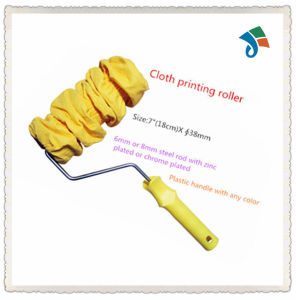 Plastic Handle with Zinc Plated or Chrome Plated Frame Cloth Printing Roller pictures & photos