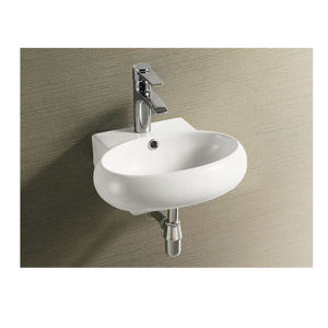 Upc Ceramic Wall Hung Basin Sink pictures & photos