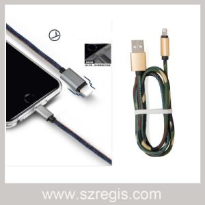 for iPhone Android Type-C Mobile Phone Universal Denim Data Charging Cable pictures & photos
