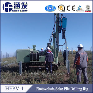 Steel Crawler Mounted Photovoltaic Solar Pole Drilling Machine (HFPV-1) pictures & photos