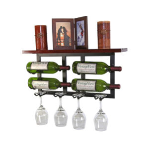 Decorative Wall Mounted Wine Racks with 4 Glass Racks pictures & photos