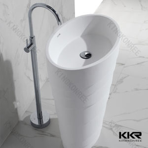 Modern Artificial Marble Stone Freestanding Solid Surface Sink pictures & photos