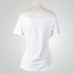 Custom Clothing Latest Design Girls Top Single White Tops pictures & photos