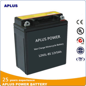 Japanese Standard Fully Charged SMF Motorcycle Battery 12n5l-BS 12V5ah pictures & photos