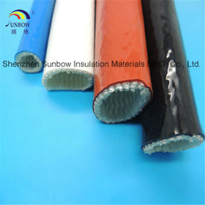 Silicone Coated Hydraulic Hose Protection Fiberglass Fire Resistant Fire Sleeves pictures & photos