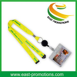 Retractable Polyester Custom Lanyards with ID Card/Badge Holder pictures & photos