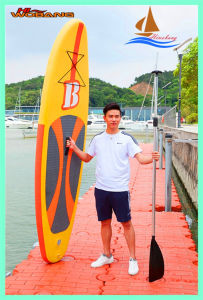 Warm Yellow Inflatable Paddle Board, Soft Longboard pictures & photos