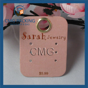Customized Earring Display Card with Metal Eyelet pictures & photos