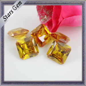 Glamour Bright Yellow Princess Cut Octagon CZ Gemstone pictures & photos