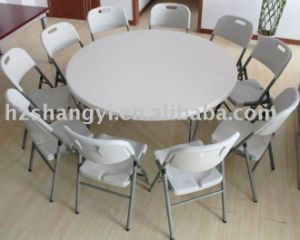 5FT HDPE Folding Round Dining Table pictures & photos