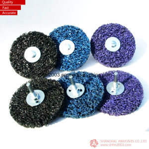 "4"" Black & Purpleclean-Strip Roloc Disc Abrasives pictures & photos"