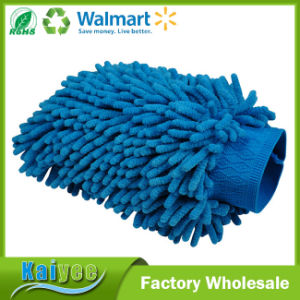 Micro Fiber Cleaning Products Waterproof Car Cleaning Wash Gloves pictures & photos
